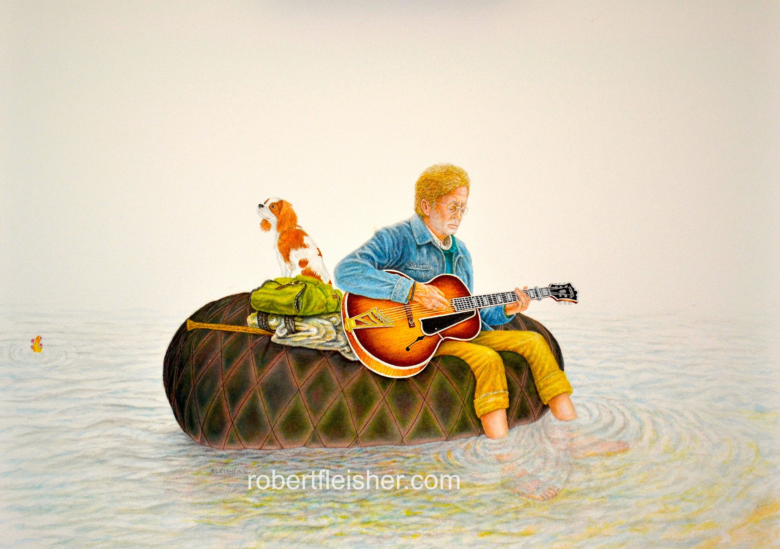 Clapton Floats   2017   30x22   watercolor