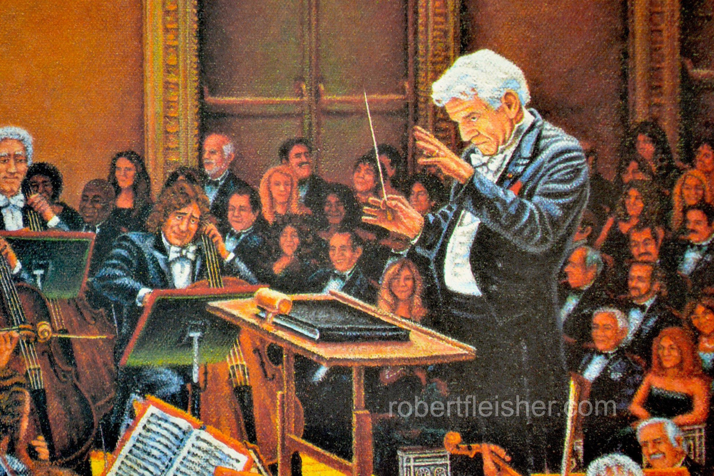Orchestra detail  Leonard Bernstein  1989-1993  50x30  oil