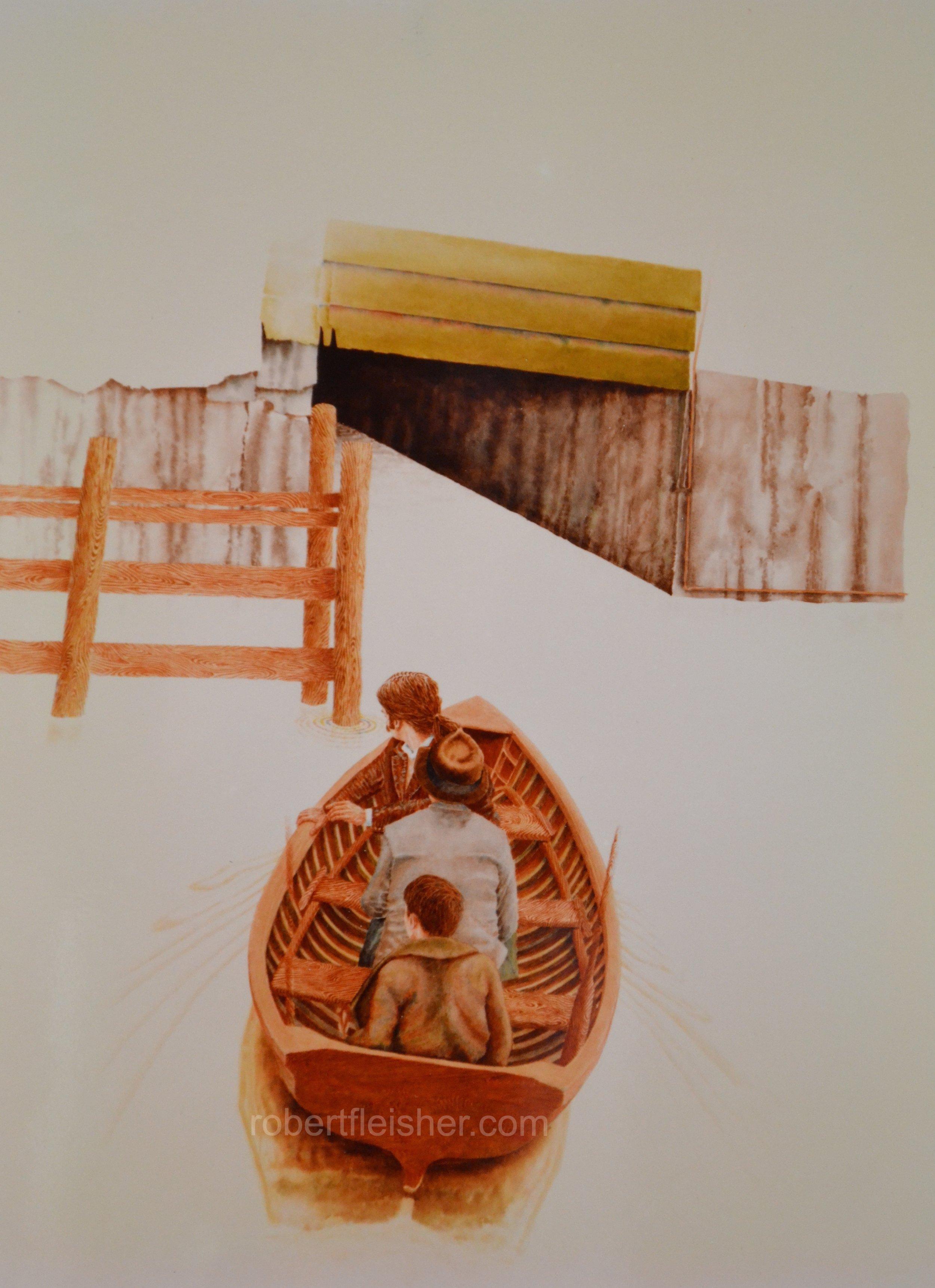 Rowboat    1976   40x30   watercolor