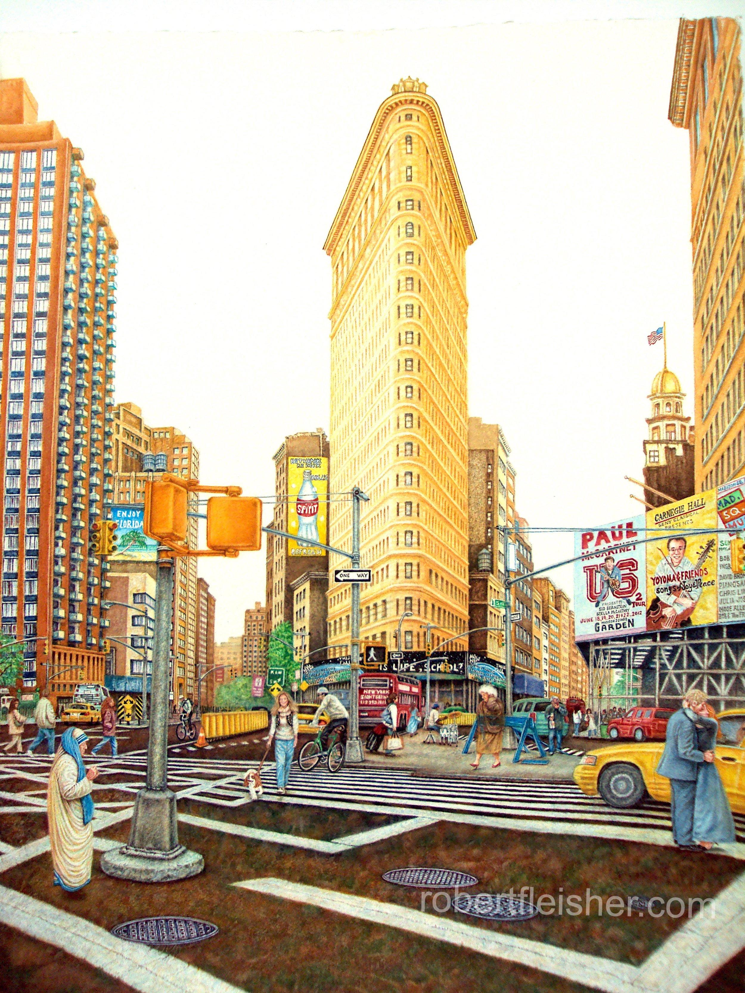 FlatIron Bldg    2010   30x20   watercolor