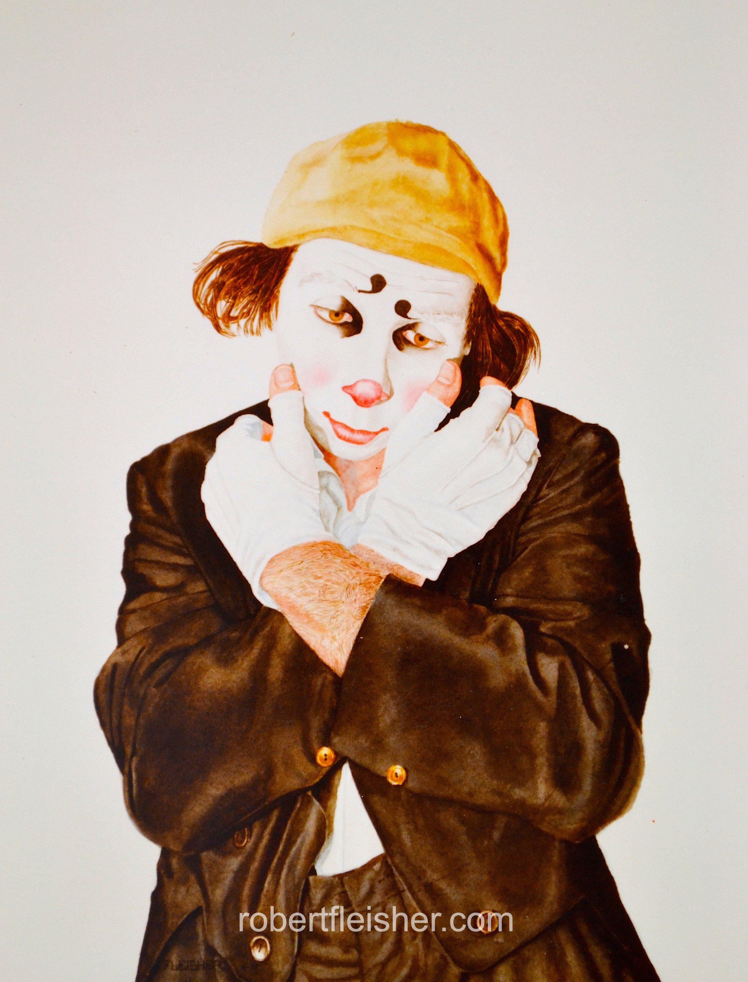 Buffo   1977   26x18   watercolor