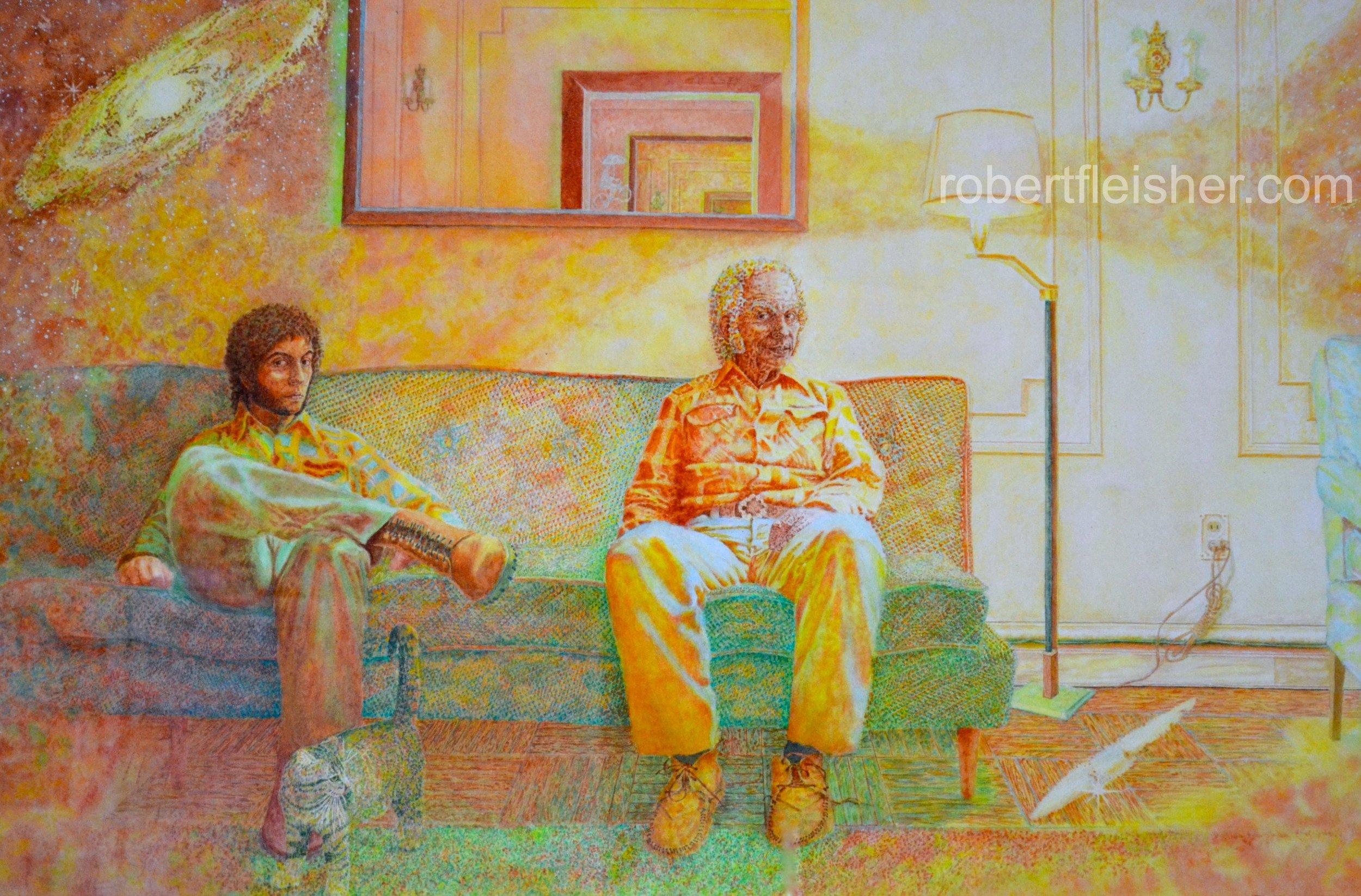 Double Portrait  1974  40x30  watercolor