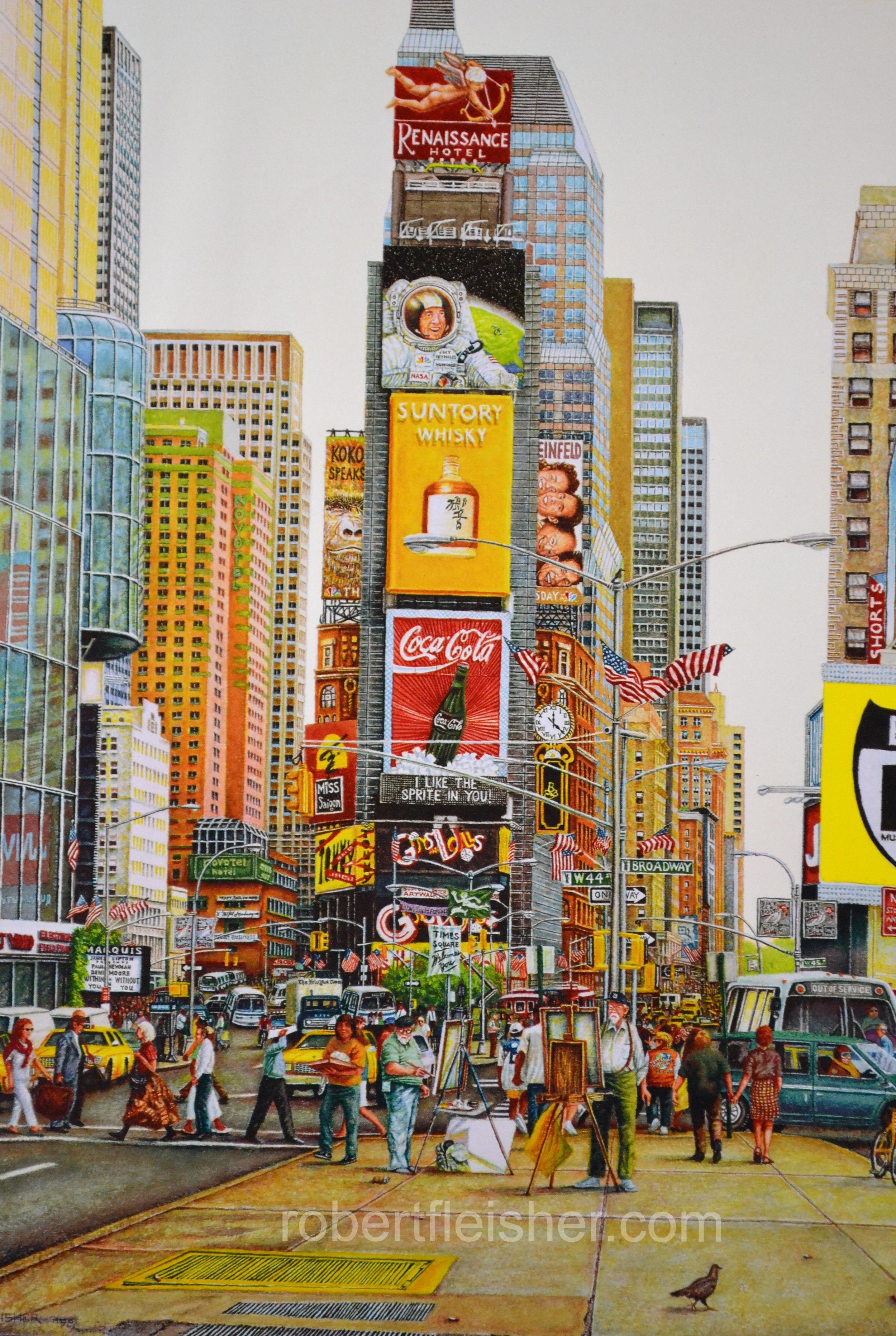 Times Square   1995   20x14   watercolor