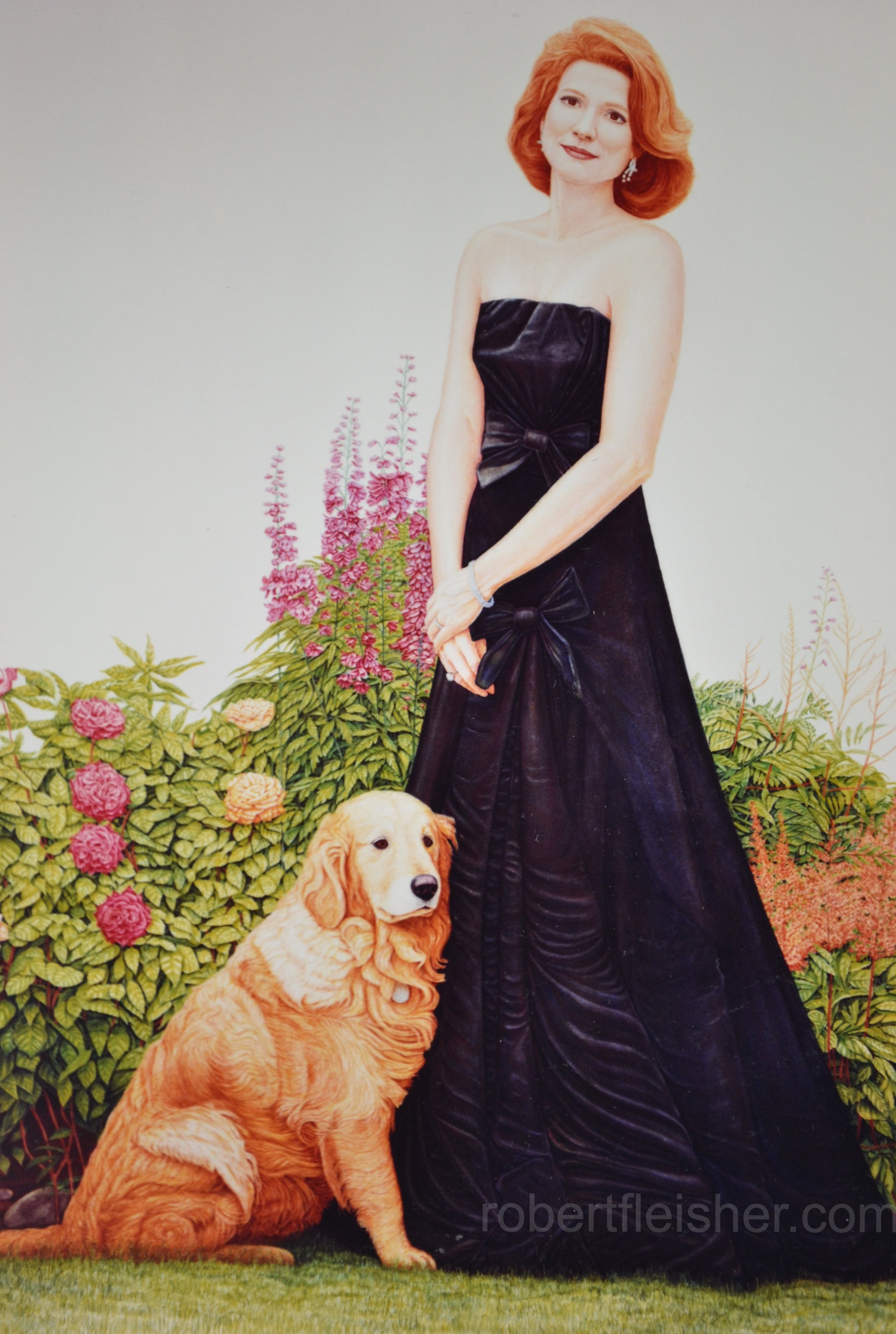 Susan and Gizmo   1991   60x40  watercolor