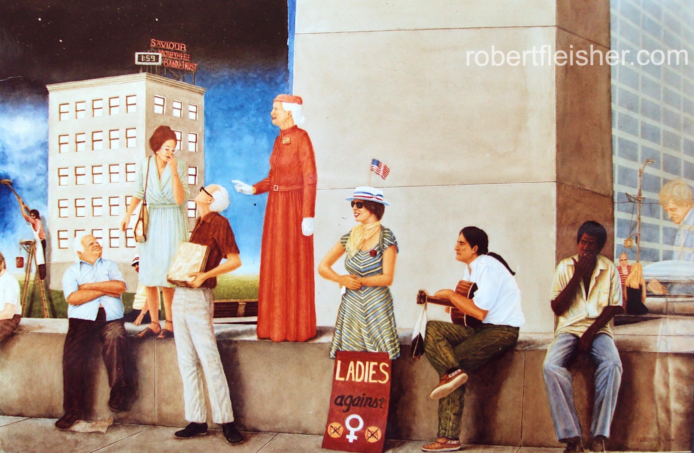 Freedom Of Speech   1980   30x22   watercolor