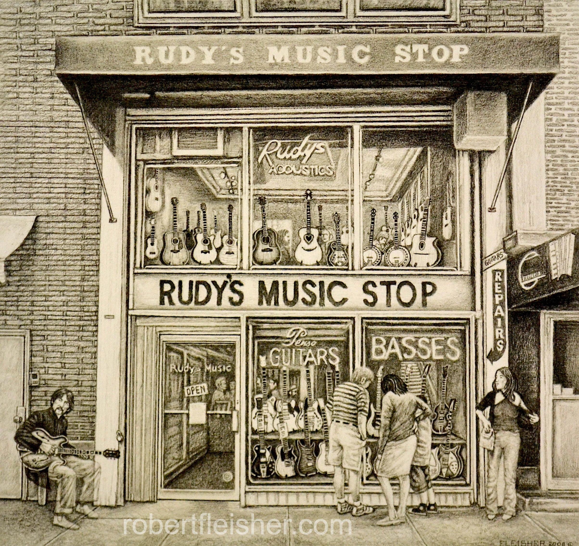 Rudy's Music Stop   2008   11x10   graphite