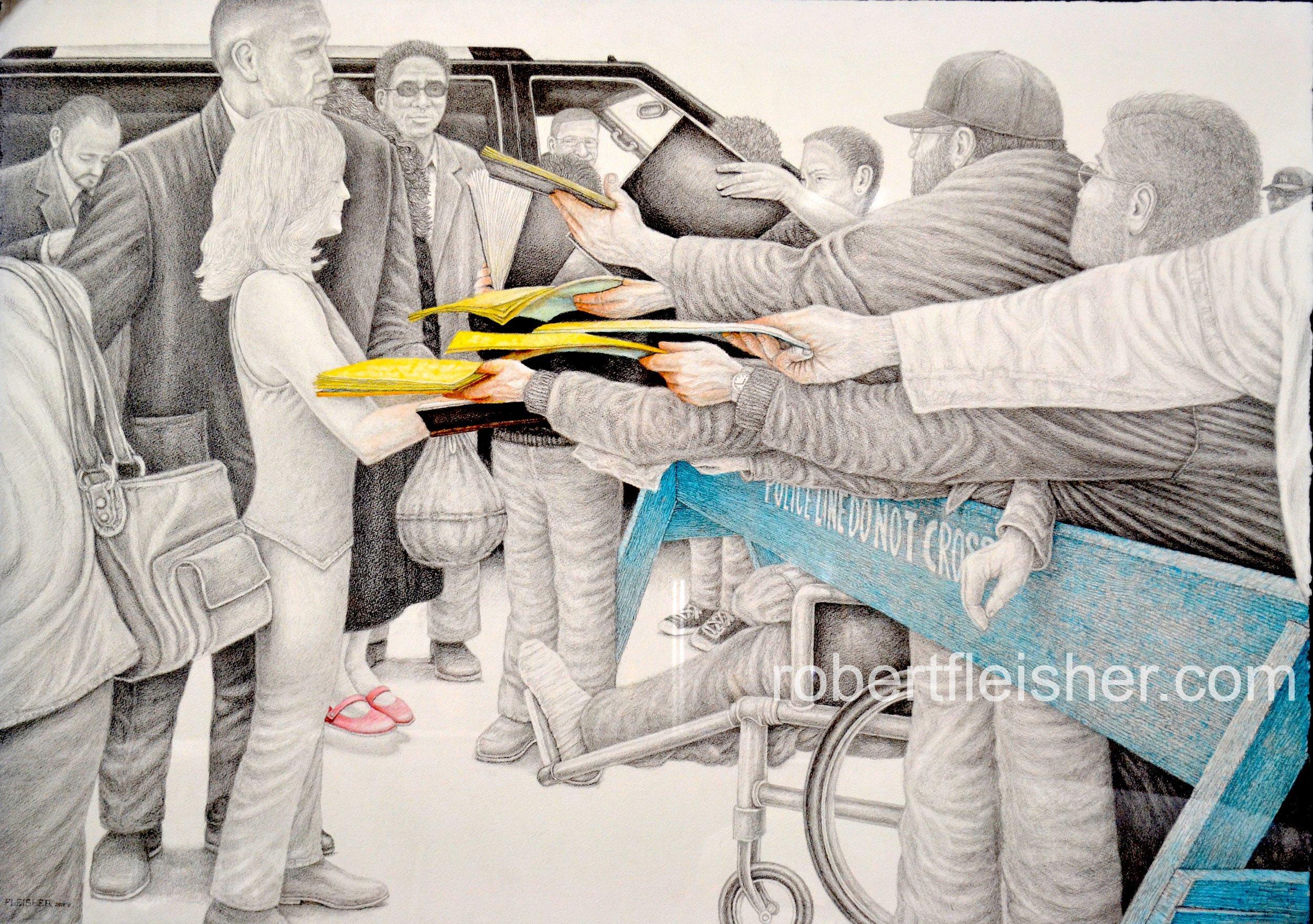 Fame   2012   40x30   Graphite, watercolor