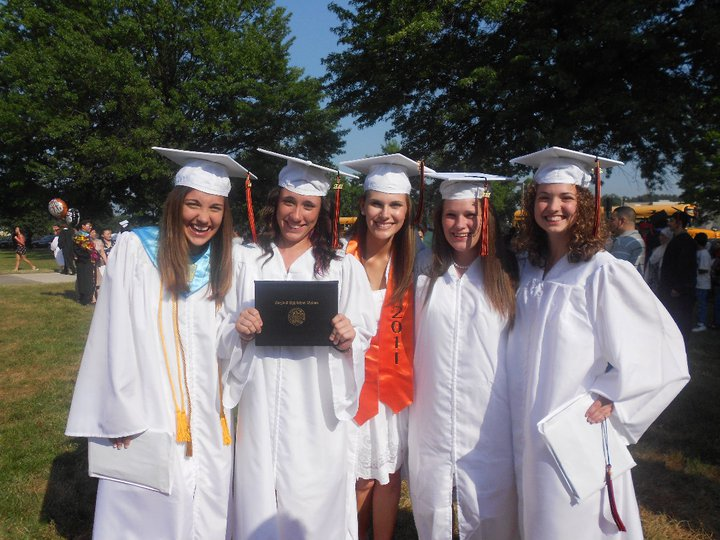 Me and Some of my best friends from high school-- We all still keep in touch!