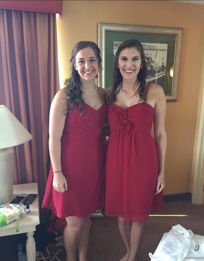 My friend Bianca and I were bridesmaids!
