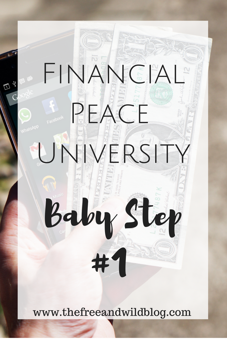 Financial Peace University: Baby Step #1 // The Free & Wild Blog