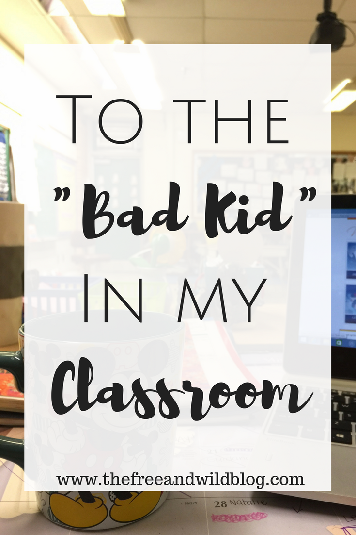 "To The ""Bad Kid"" In My Classroom // The Free & Wild Blog"