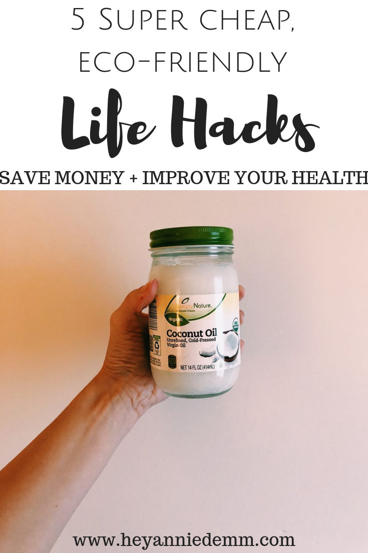 5 Super Cheap, Eco-Friendly, Life Hacks // Hey, Annie Demm