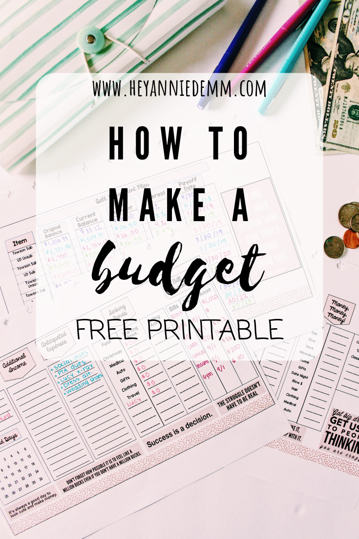 How to Start Budgeting for Beginners// Hey, Annie Demm