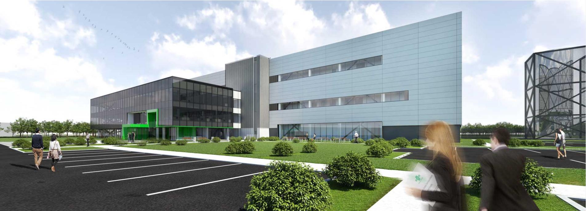 Projet Oasis – Green Cross Biotherapeutics [GCBT]   Complexe pharmaceutique abritant une usine de fractionnement de plasma sanguin de même que le siège social nord-américain de la multinationale sur le campus Saint-Laurent de Technoparc Montréal.  LEED NC Certifié visé  Prix d'excellence – Industriel [2016], Institut canadien de la construction en acier   Partenaire : NFOE