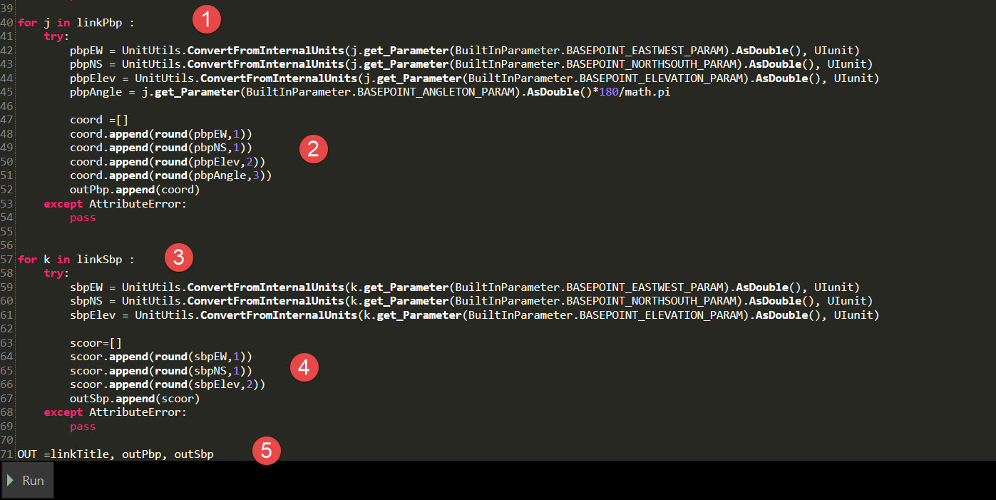 la suite du code en 5 étapes.