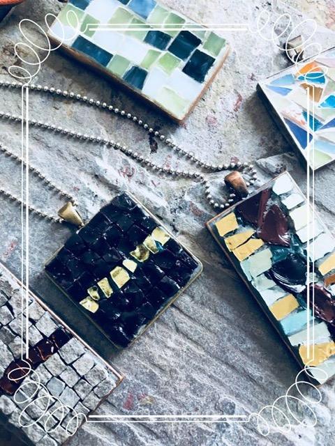 mosaic pendants, 2018