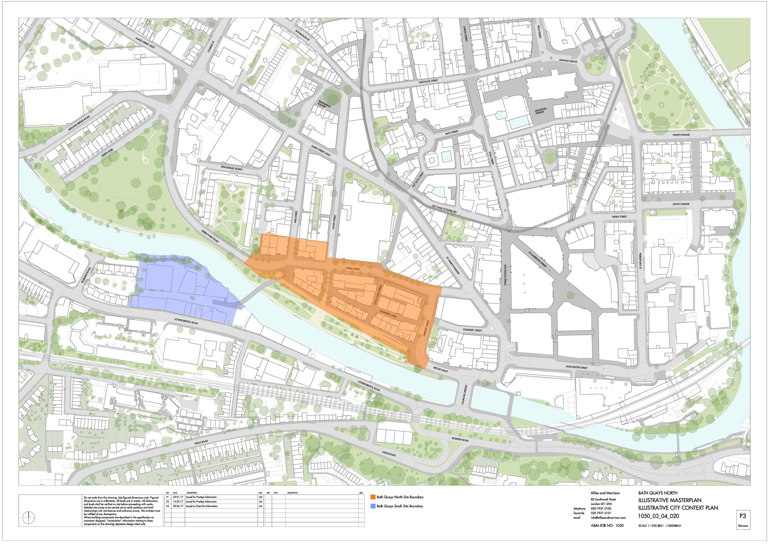 Site Plan Bath Quays North and Southh