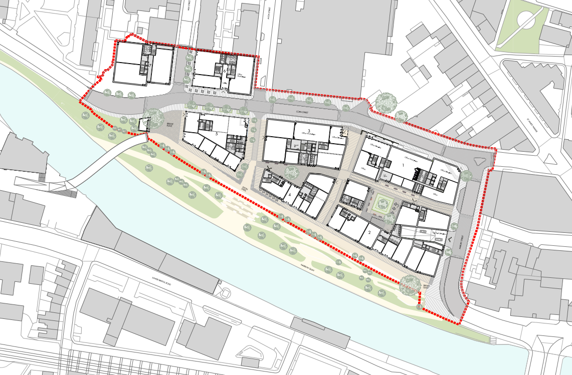 Bath Quays North Illustrative Masterplan