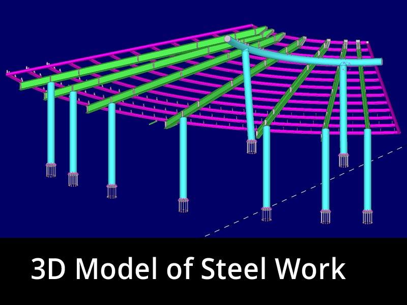 3D Model of Steel Work