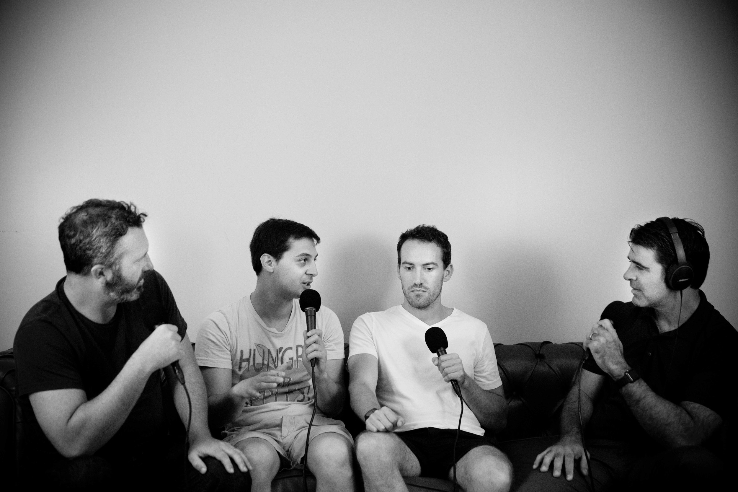 Left to right: Ben, Matt, Alex, and Bob.Photo by  Crackerfarm