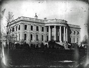 A, very, old image of the White House