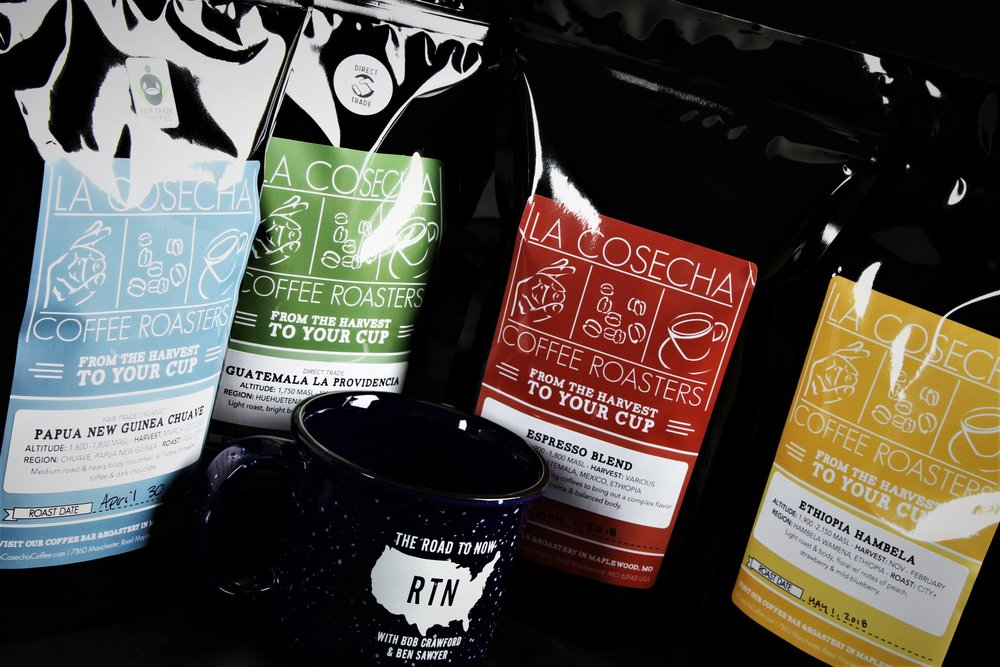 This episode brought to you with support from our friends at  La Cosecha Coffee Roasters.  Go to  lacosechacoffee.com  & enter promo code  RTN10  at checkout for 10% off your next purchase. You can even get  a  Road to Now  coffee/mug combo!