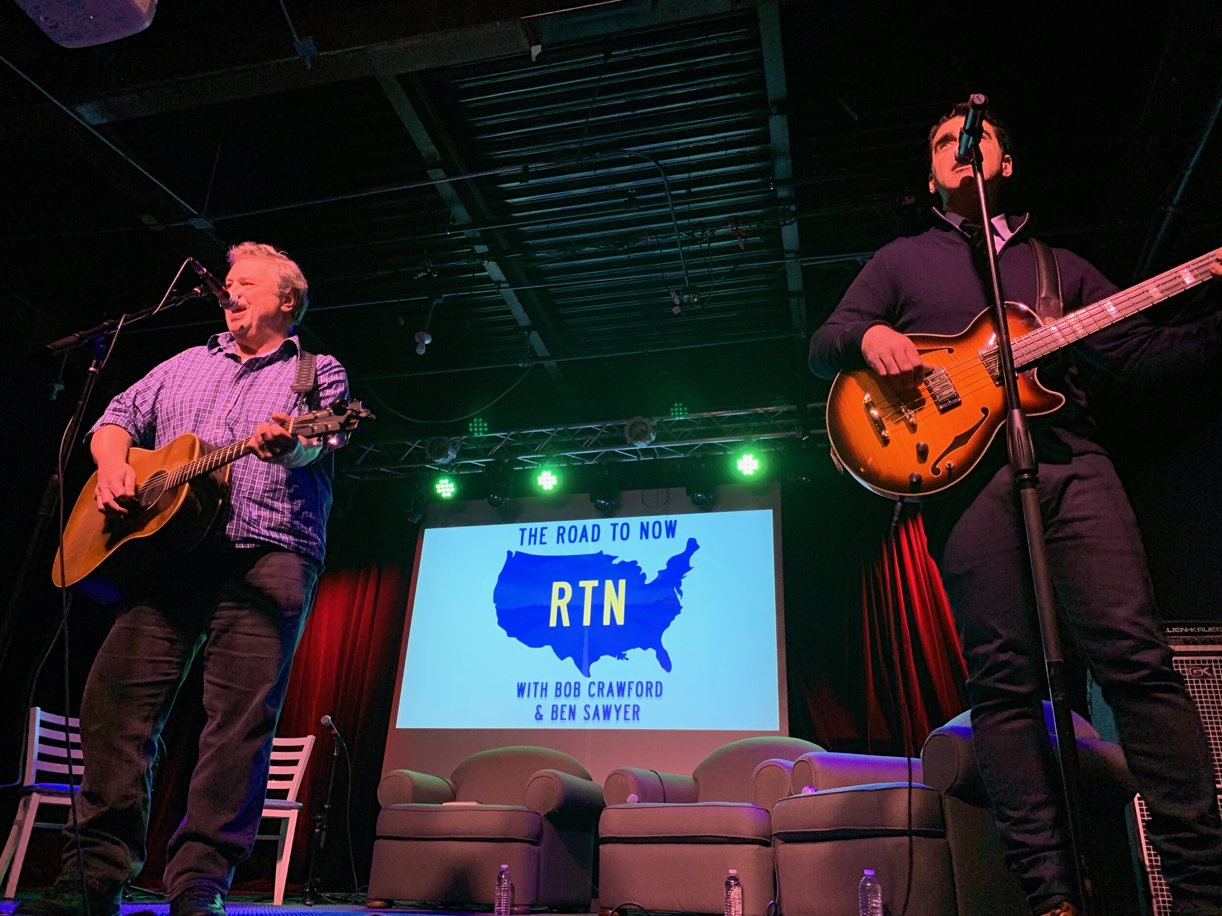 David Childers & Bob Crawford at RTN Live in Carrboro, NC. Picture by Melanie Crawford.