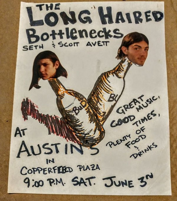 The earliest flyer Tim has in the Avett Archive- June 3, 1995.