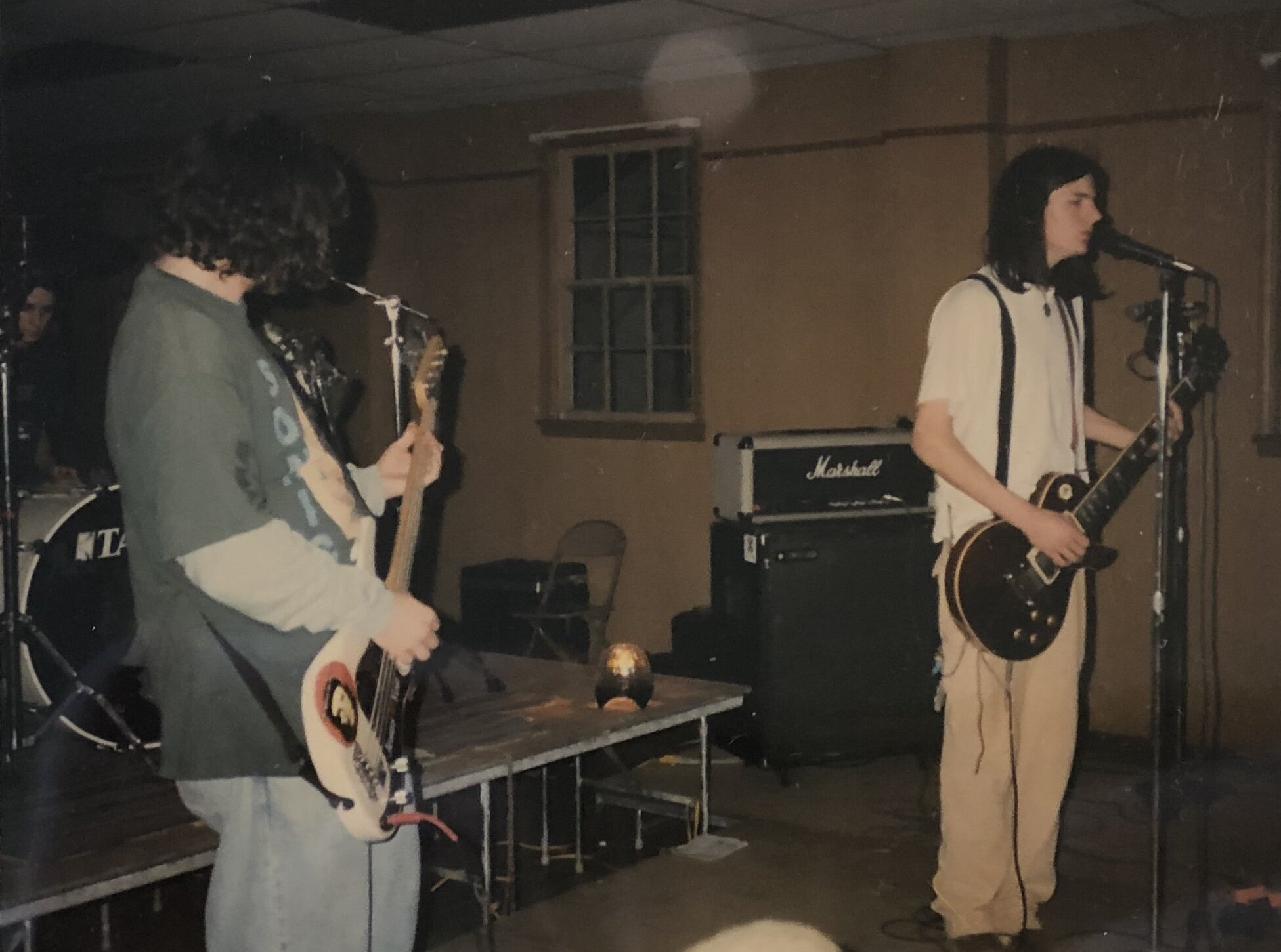 And finally, a deep cut- (left to right) Noah Warner, Ben Sawyer & Seth Avett playing a show w/ their band Margo at the Lions Hut in Mount Pleasant, circa 1995-96. (This one isn't from the archive. Just from Ben's high school photo album.)