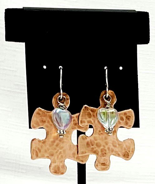 Puzzle Piece Post Earrings Mom Jewelry Autism Earrings Teacher Earrings Autism Awareness Earrings