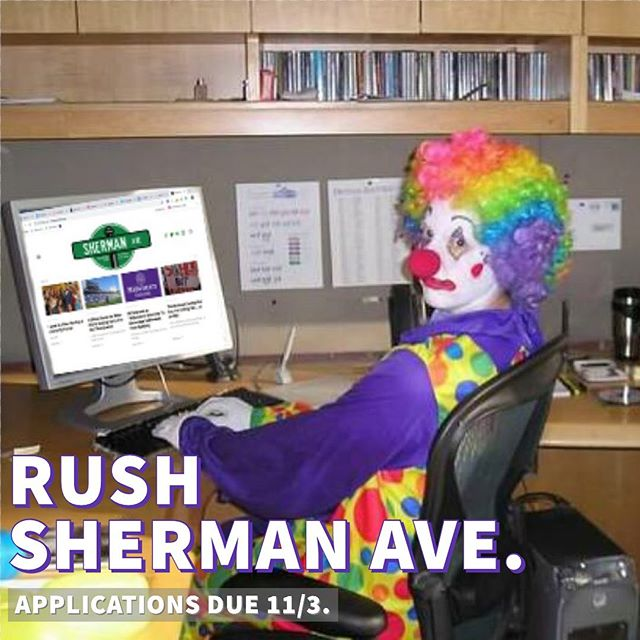 Down to clown? Apply to Sherman Ave. Link in bio 🤡