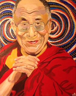 Dalai Lama by Curtis Marden