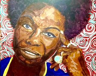 Nina Simone by Curtis Marden