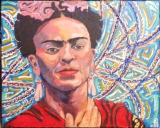 Frida Kahlo by Curtis Marden