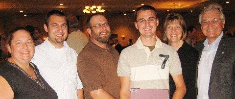 Mrs. Seidler, Paul Seidler (2007 recipient) Mr. Seidler,William Seidler (2009 Recipient),  Renee and Doug LaViolette at the NTWC Awards presentation