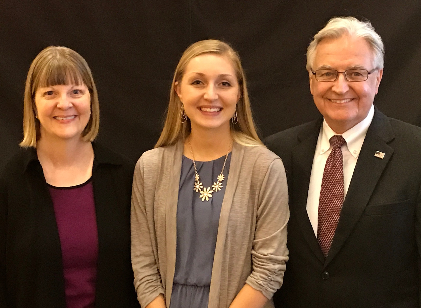 Corrina Dart  was this years' recipient of the Brian LaViolette Scholarship at Bellin College. She is pictured here with Renee and Doug LaViolette