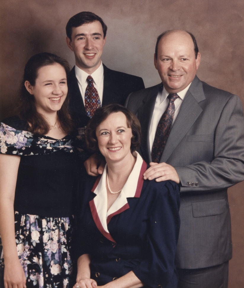 Frank Frewerd with his family, Brian, Keri and his late wife Kathy