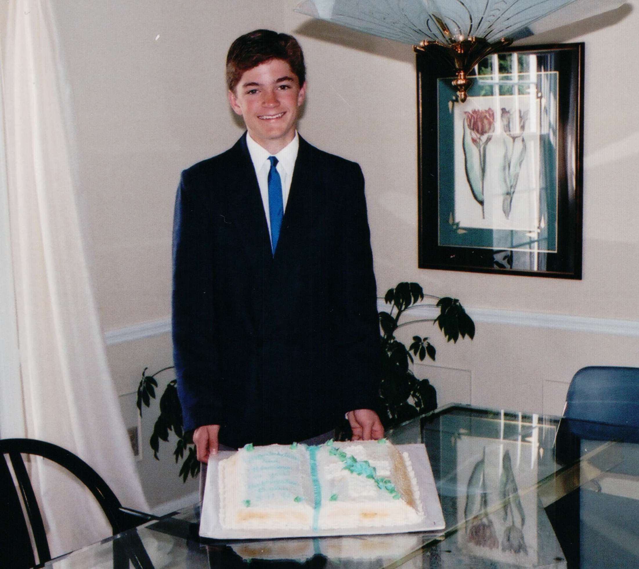 Brian on his confirmation day