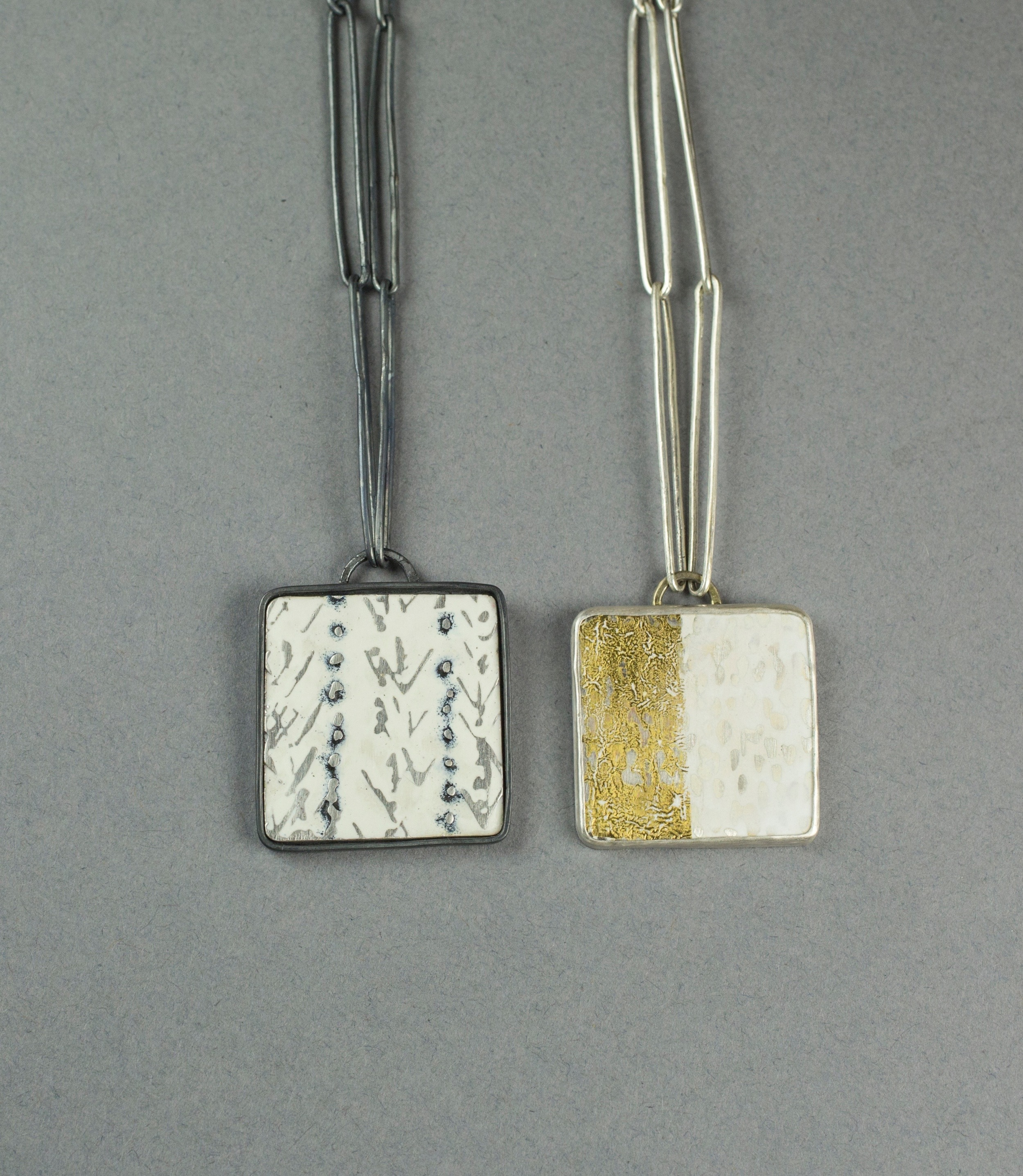 Two square pendants