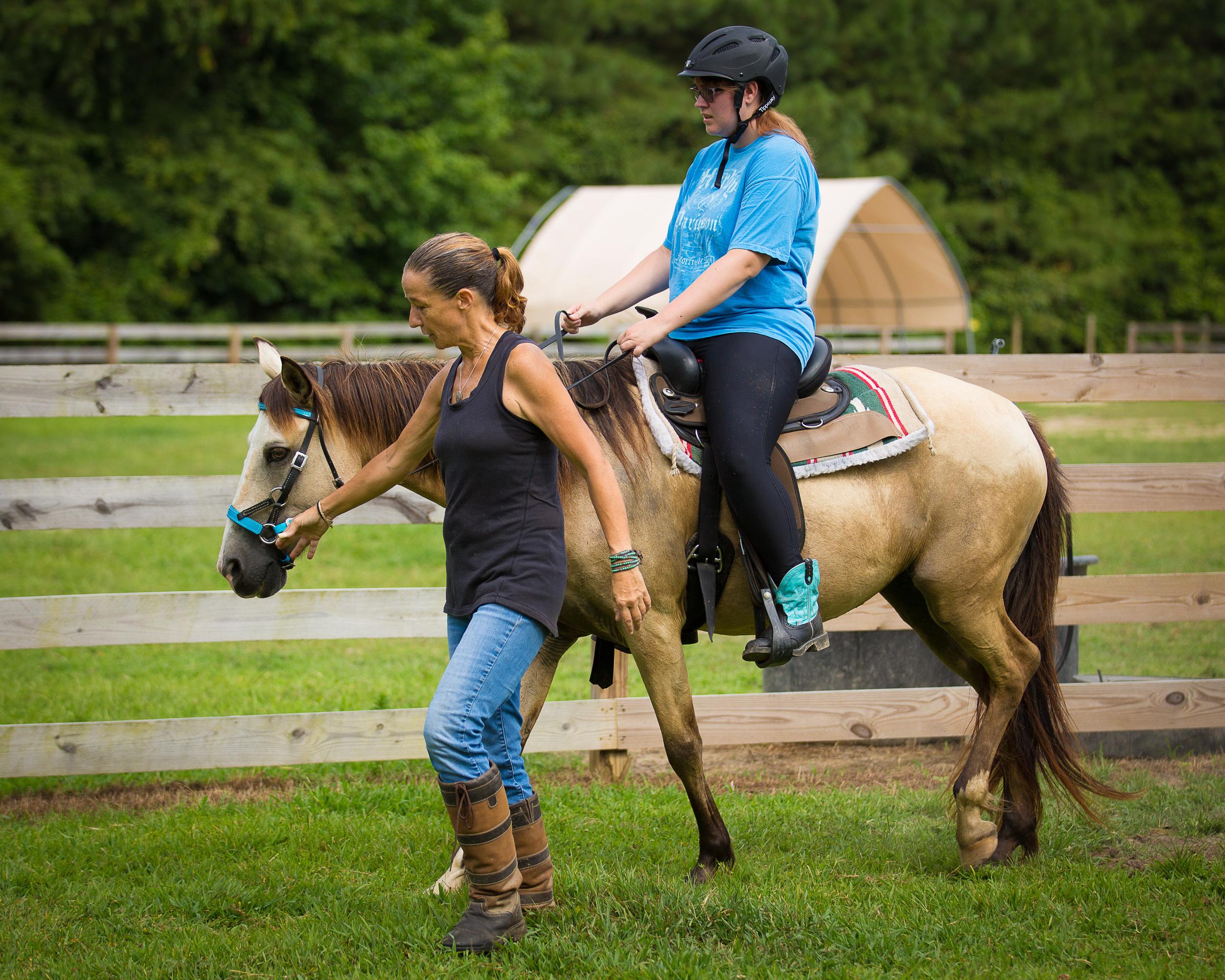 Ashley riding Inanna.