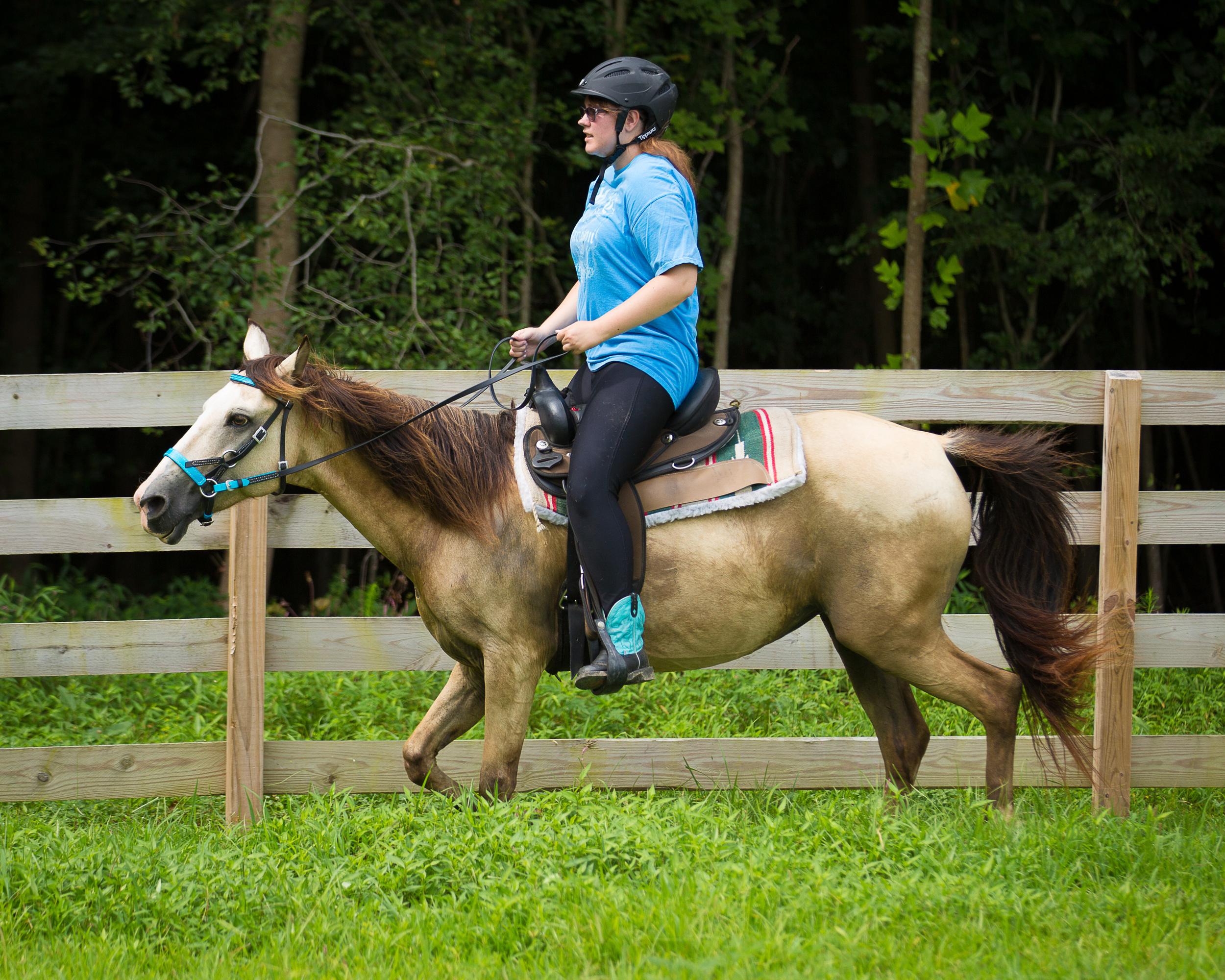 Ashley riding Inanna