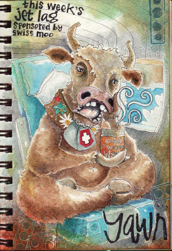 Yawning cow