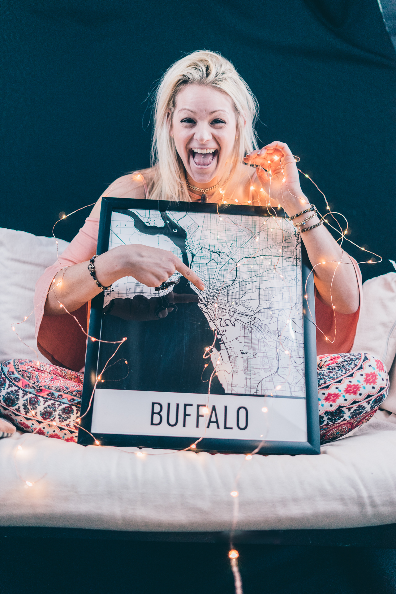map of buffalo, maps of buffalo, buffalo art print, black and white city print, indie twenty, queen city map, queen city gypsy, fashion blog, buffalo blogger, buffalo fashion blogger, buffalo lifestyle blogger, seek axiom photography, rachel sweeney, blush boutique, blush boutique buffalo, elmwood shopping, modern map art, twinkle lights photography
