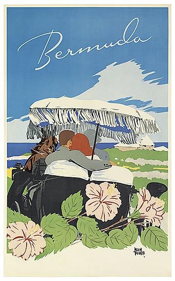 """Bermuda, 1956"" by Adolph Treidler"