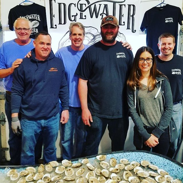 @edgewateroyster are here! Come on down! #oysters #craftbeer