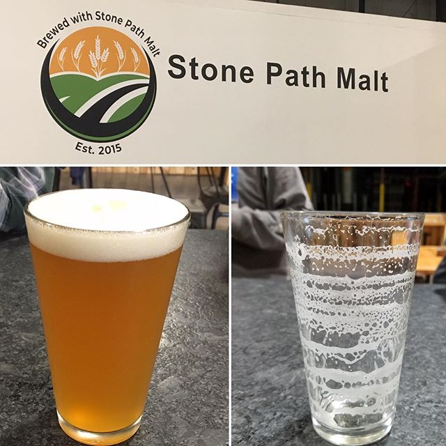 BEFORE & AFTER - Check out the FOAM and lacing on this glass of A NE IPA Brewed with Stone Path Malt #neipa #stonepathmalt #drinklocal