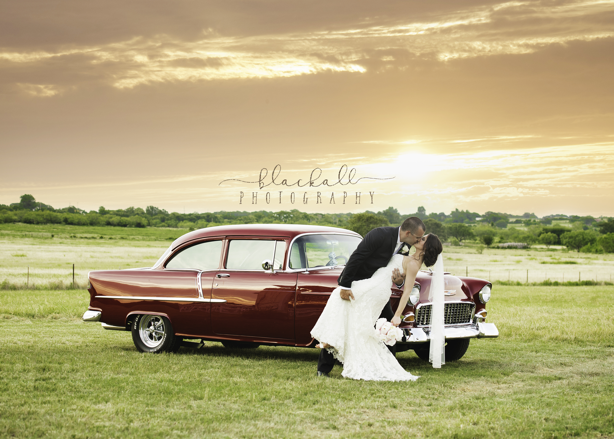 A Texas sunset & '55 Chevy...not sure which one is prettier!