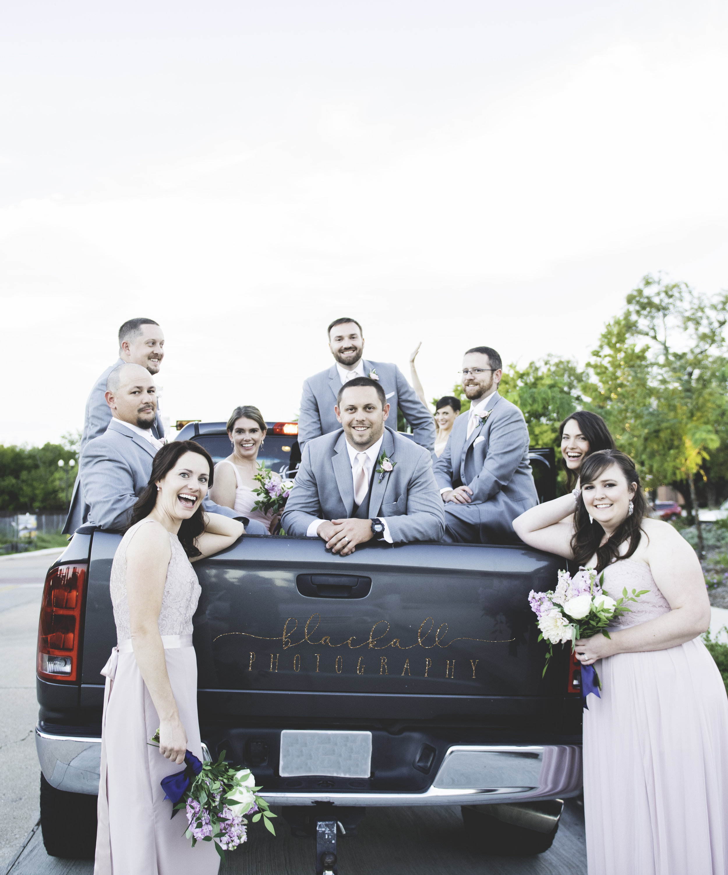 Wedding Party transportation provided by yours truly! ;)