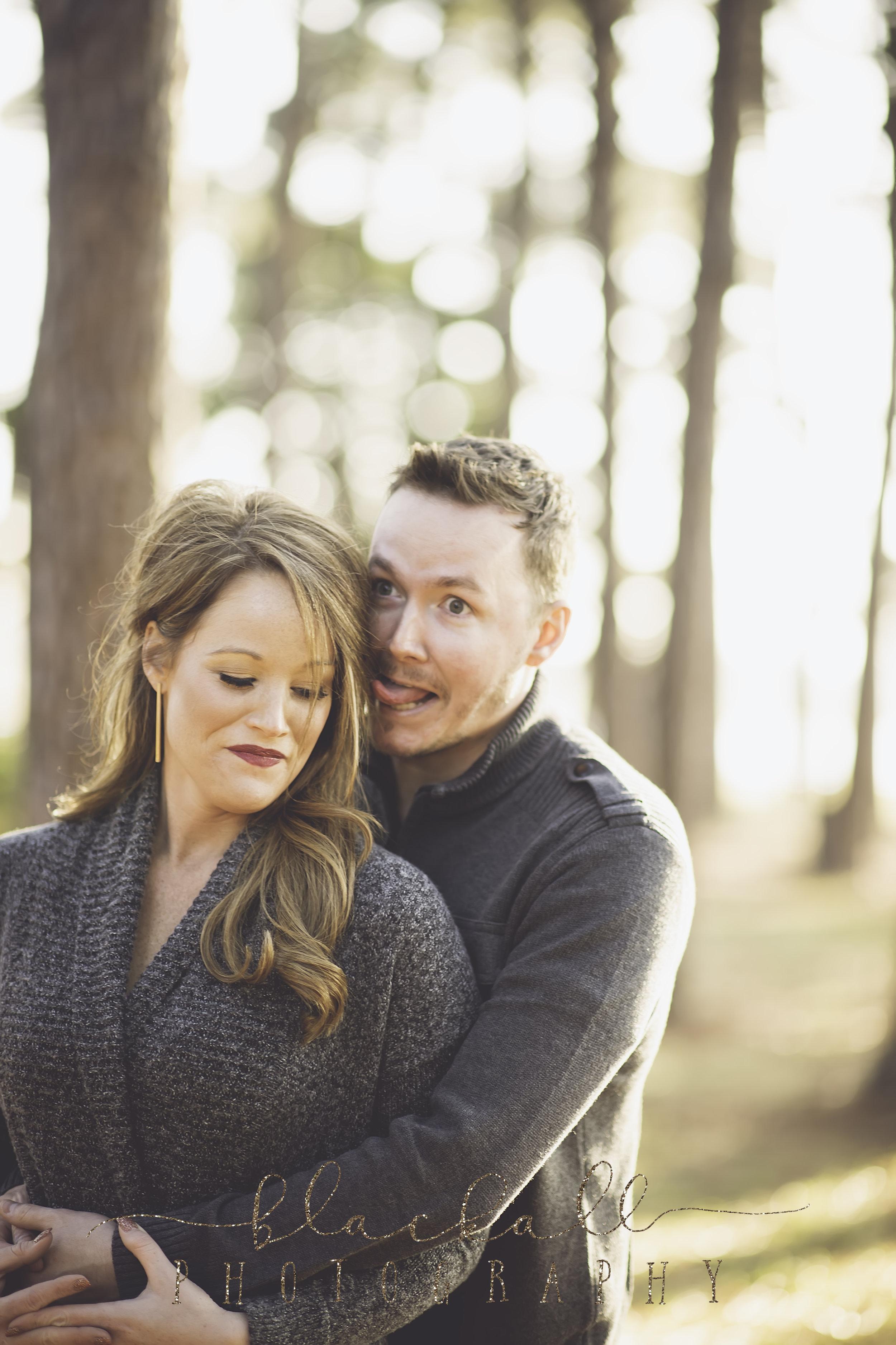 Engagement photos... such a serious solemn event. ;P