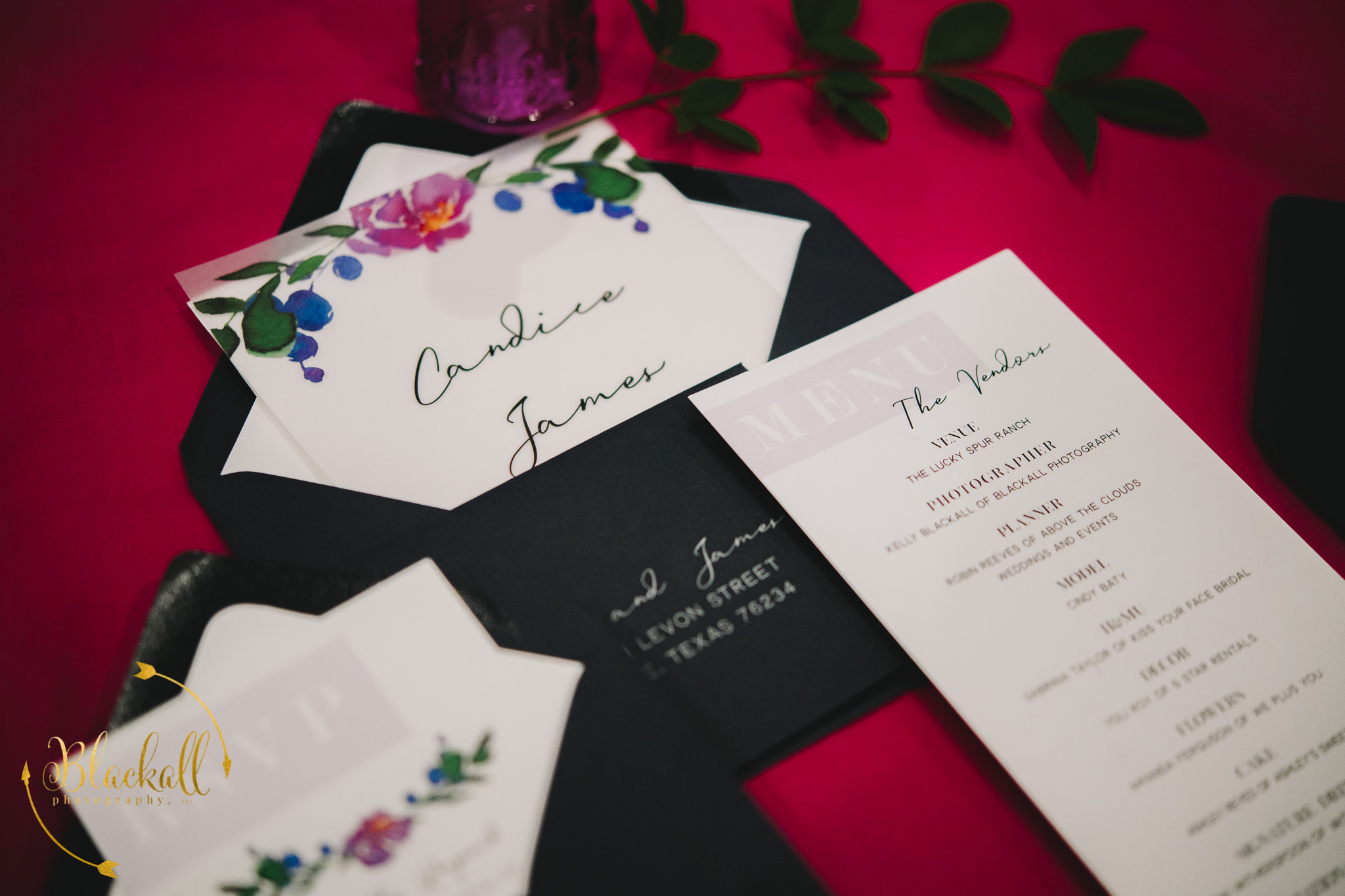 Beautiful invitation suites by Event Paperie